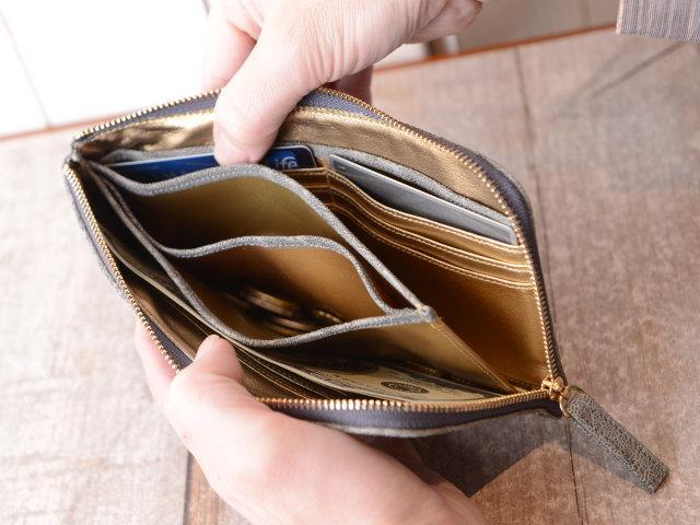 使いやすい象革財布